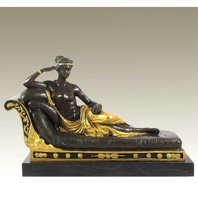 Mujer tumbada en diván Paulina Bonaparte -Dorado